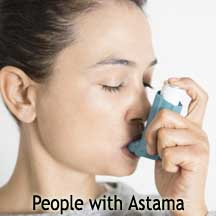 People with Astama